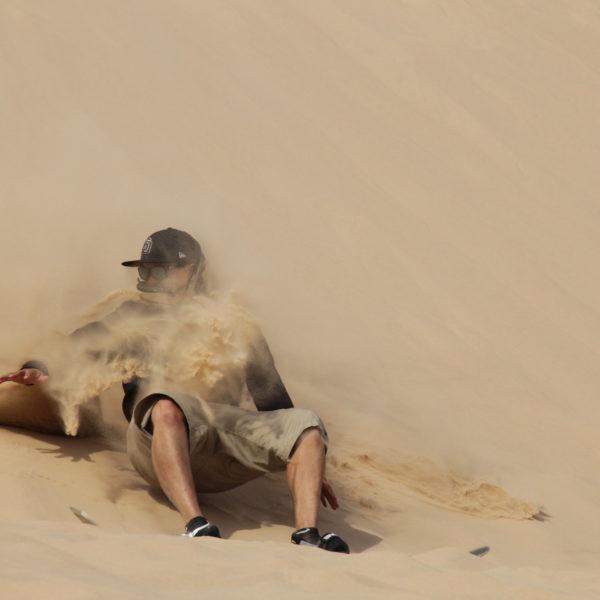 Sandboarding in Taghazout