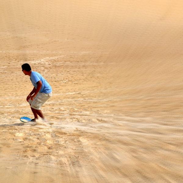 Sandboarding in Agadir